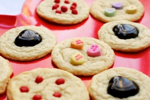 Leftover VDay candy cookies
