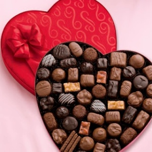 Valentines Day candy open