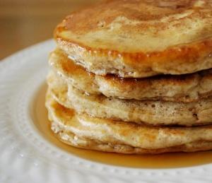 whole wheat pecan pancakes
